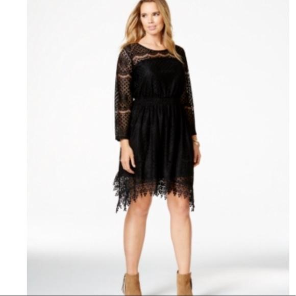 American Rag Dresses Plus Size Handkerchiefhem Lace Dress Poshmark